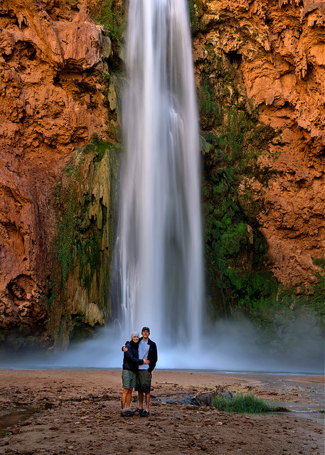 Marie and Rob at Mooney Falls
