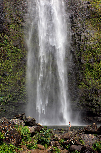 Marie at Hanakapi'ai Falls