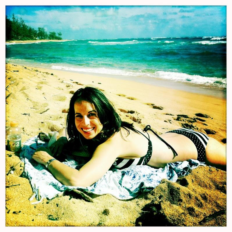 Marie at the Beach in Kauai