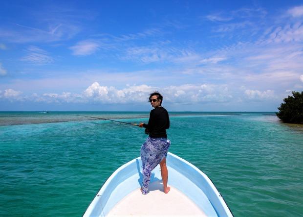 marie-flyfishing-in-belize