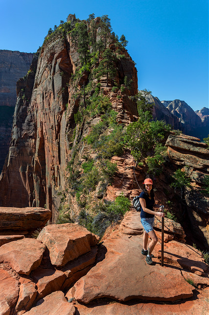 Marie on the Path to Angel's Landing