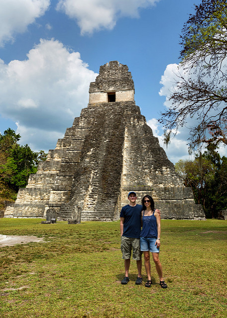 rob-and-marie-at-tikal-temple-iv