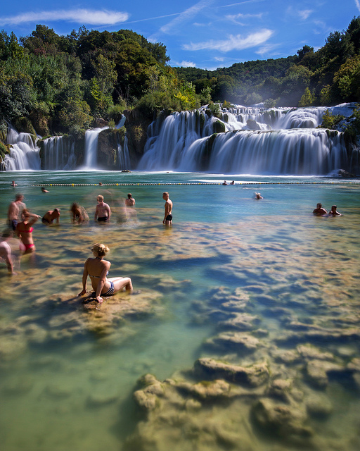 swimmers-at-krka