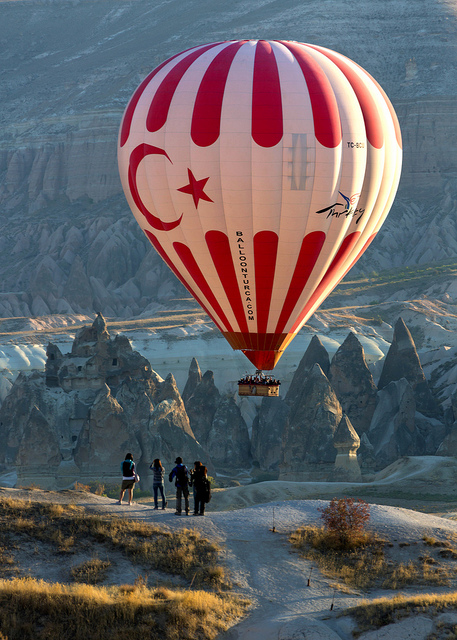Turkish Balloon at Sunrise