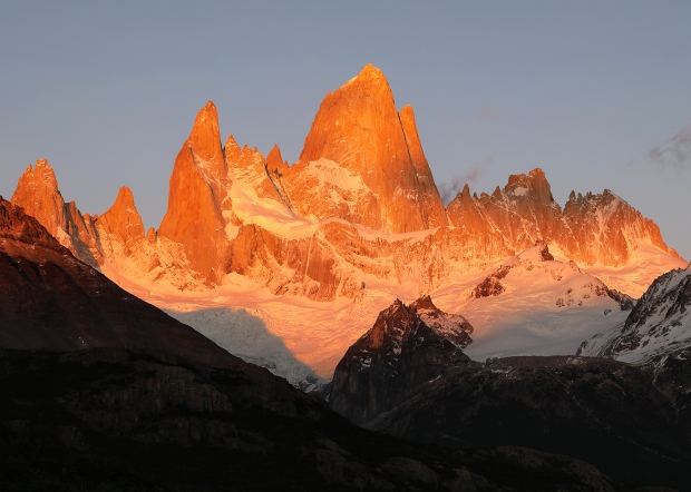 first-light-on-fitz-roy